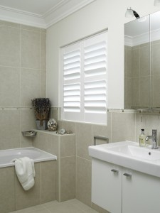 Easy to clean and stay dry bathroom shutters