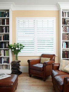 A cosy corner created with lounge shutters