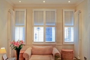 keep private and filter light with living room shutters