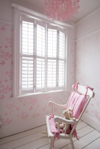 childrens room shutters with rocking chair