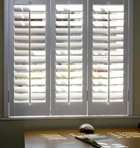 Control light in home office with window shutters
