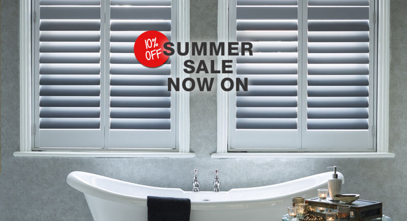Summer offer now on! Beautiful bathroom shutters at 10% off