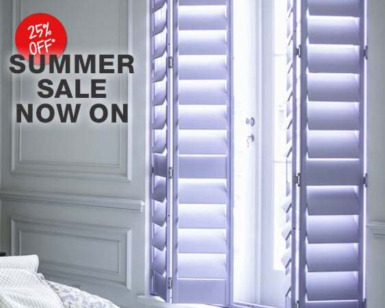 YES! Window shutters up to 25 percent off now