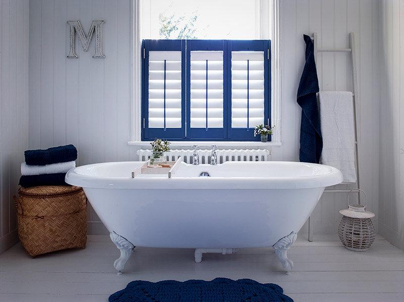 waterproof shutters in the best bathroom ever