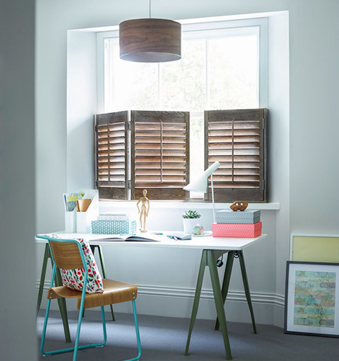 Home studio with stylish cafe shutters