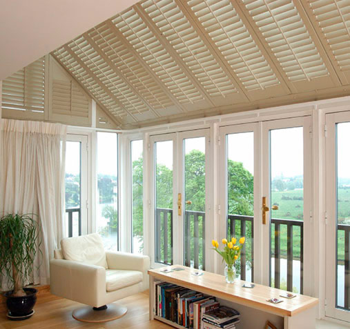 conservatory ceiling shutters