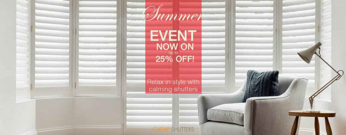 Relax in style with new window shutters and up to 25 percent off for summer 2020