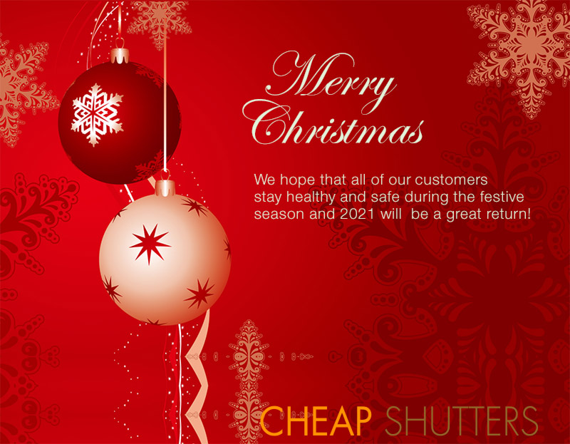 Merry Christmas from Cheap Shutters