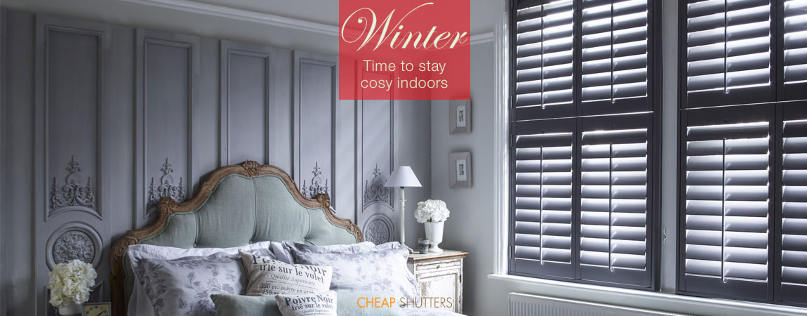 Stay cosy this winter with new bedroom shutters