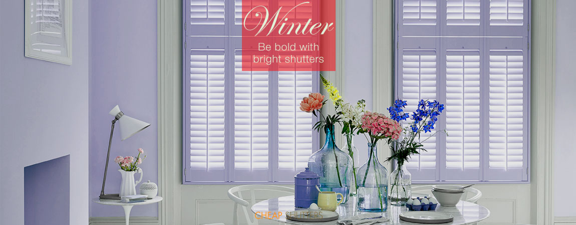Be bold with bright colour shutters this winter